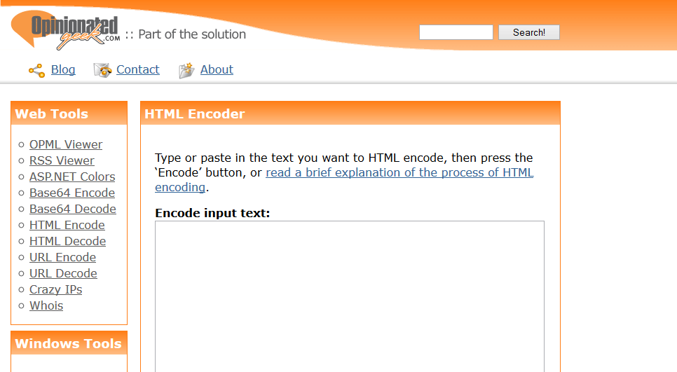 Encode and decode a piece of text to its HTML equivalent